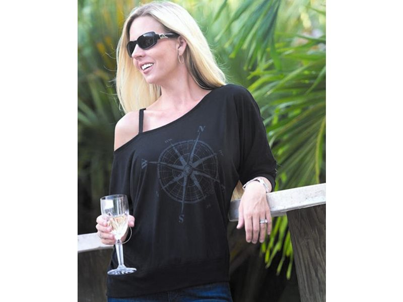 Reel Sassy Compass Rose Long Sleeve Shirt