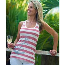 Reel Sassy Striped Racer Tank