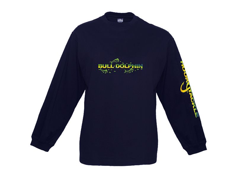 Hook & Tackle Dolphin Skinz Tech Long Sleeve Shirt