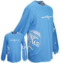 Hook & Tackle Bull Dolphin Wrap Solar System Tech Long Sleeve Shirt