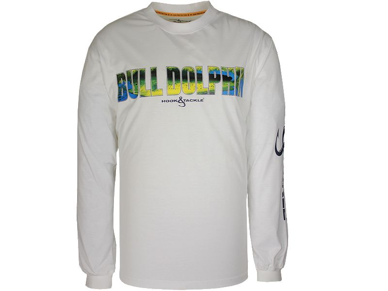 Hook & Tackle Alpha Dolphin Solar System Tech Long Sleeve Shirt