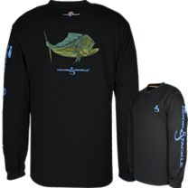 Hook & Tackle Bull Dolphin ET Solar System Tech Long Sleeve Shirt