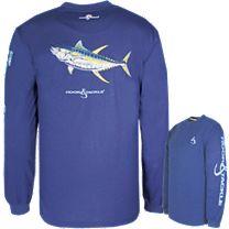 Hook & Tackle Tuna ET Solar System Tech Long Sleeve Shirt