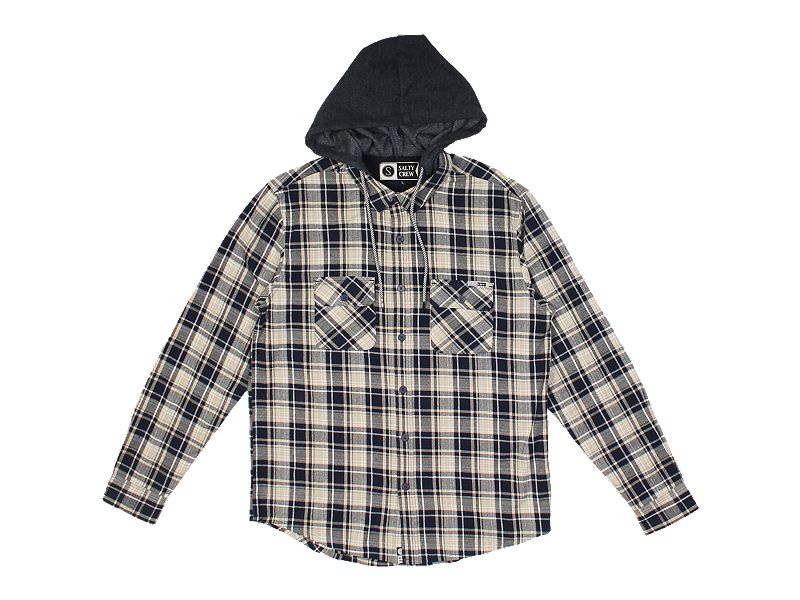 Salty Crew Stern Hooded Flannel