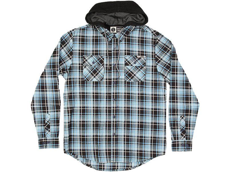 Salty Crew Stern Hooded Flannel