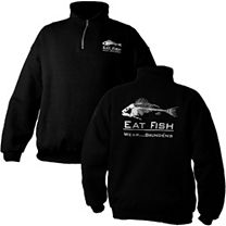 Grundens Eat Fish 1/4 Zip Sweatshirt