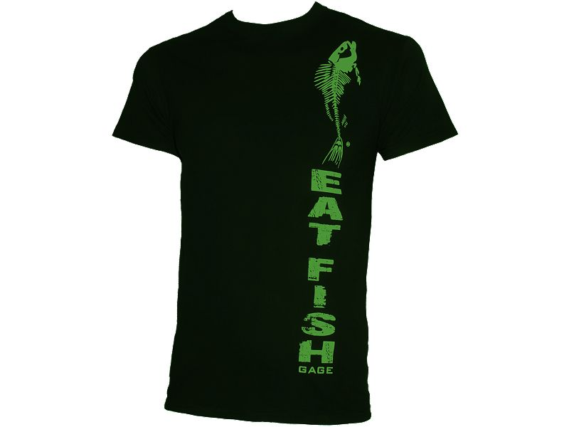 Grundens Vertical Logo Eat Fish T-Shirt