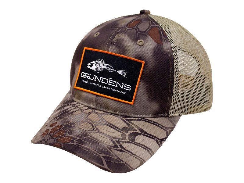 Grundens Gage Camo Trucker Hat