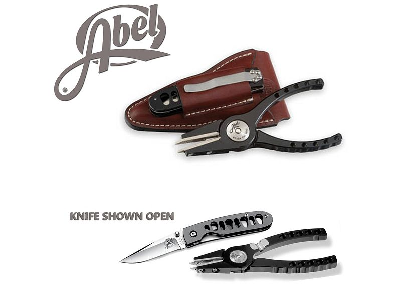 Abel Model #4 Black Pliers & Standard Black AbelBlade Knife Combo