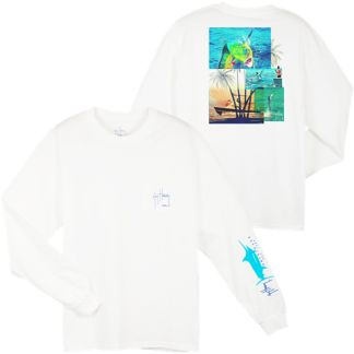 Guy Harvey Dorado Palms Long Sleeve Shirt