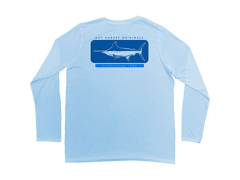 Guy Harvey Woodblock Pro UVX Performance Long Sleeve Shirt
