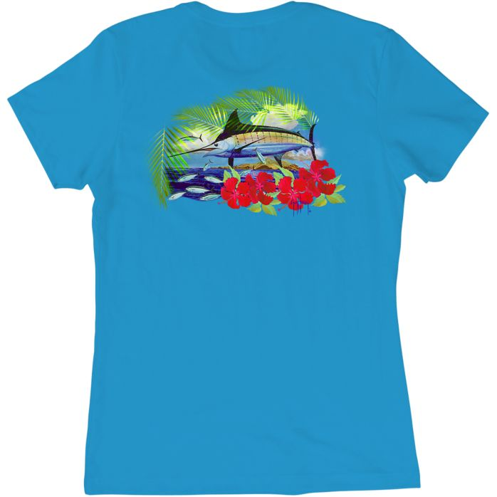 Guy Harvey Sunny Palms Ladies T-Shirt