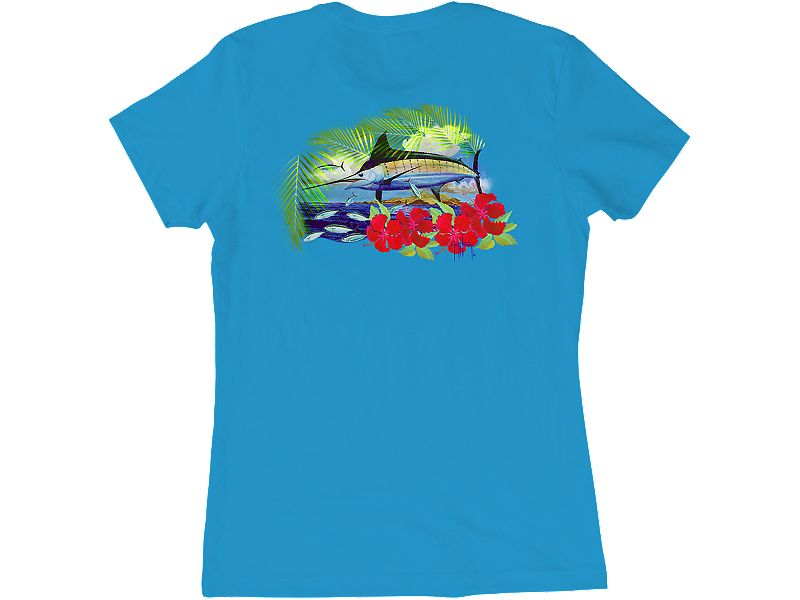 Guy Harvey Sunny Palms Ladies T-Shirt