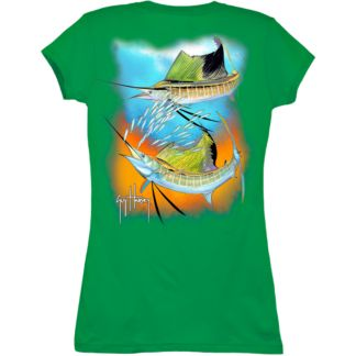 Guy Harvey Sailfish Spiral Redux Ladies T-Shirt