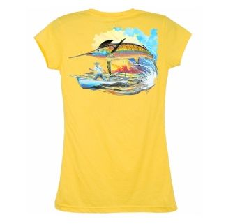 Guy Harvey Good Catch Redux Ladies T-Shirt