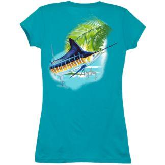 Guy Harvey Marlin Paradise Ladies T-Shirt