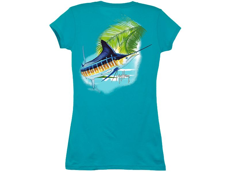 Guy Harvey Marlin Paradise Ladies T-Shirt
