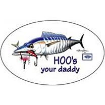 AFTCO Hoo's Your Daddy Sticker
