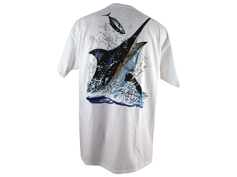 Guy Harvey Black Marlin Toss T-Shirt