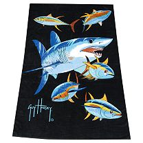 Guy Harvey Mako Shark Towel
