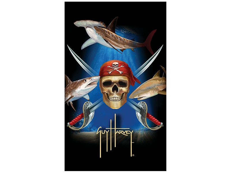 Guy Harvey Pirate Shark Towel
