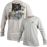 Guy Harvey Pirate Shark 4 Long Sleeve Slimfit Shirt