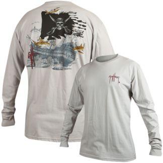 Guy Harvey Pirate Shark 4 Long Sleeve Slimfit Shirt