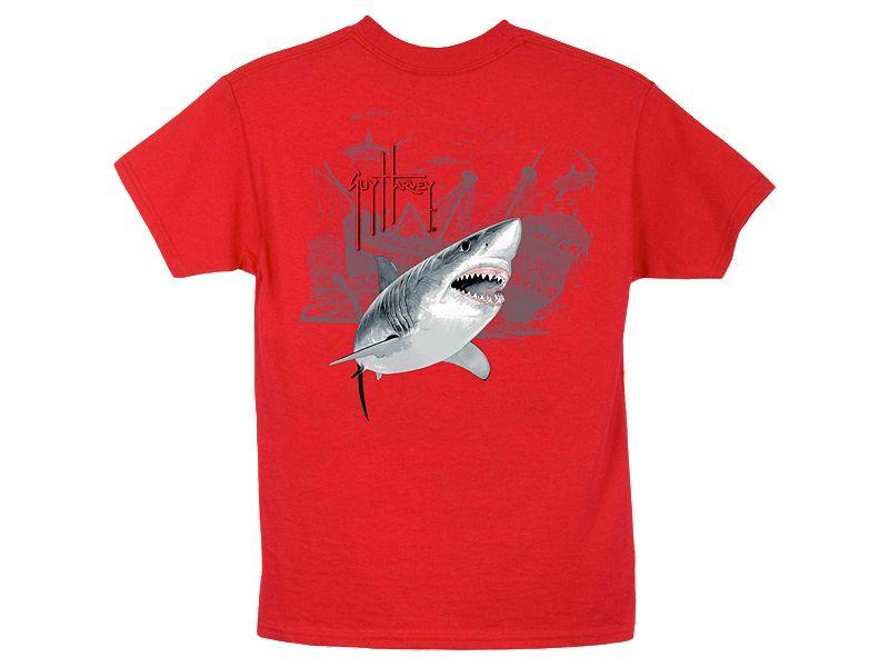 Guy Harvey Pirate Shark 3 Youth T-Shirt