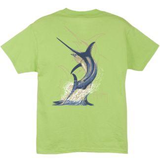Guy Harvey Swordfish Strike Youth T-Shirt