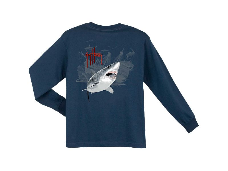 Guy Harvey Pirate Shark 3 Youth Long Sleeve Shirt
