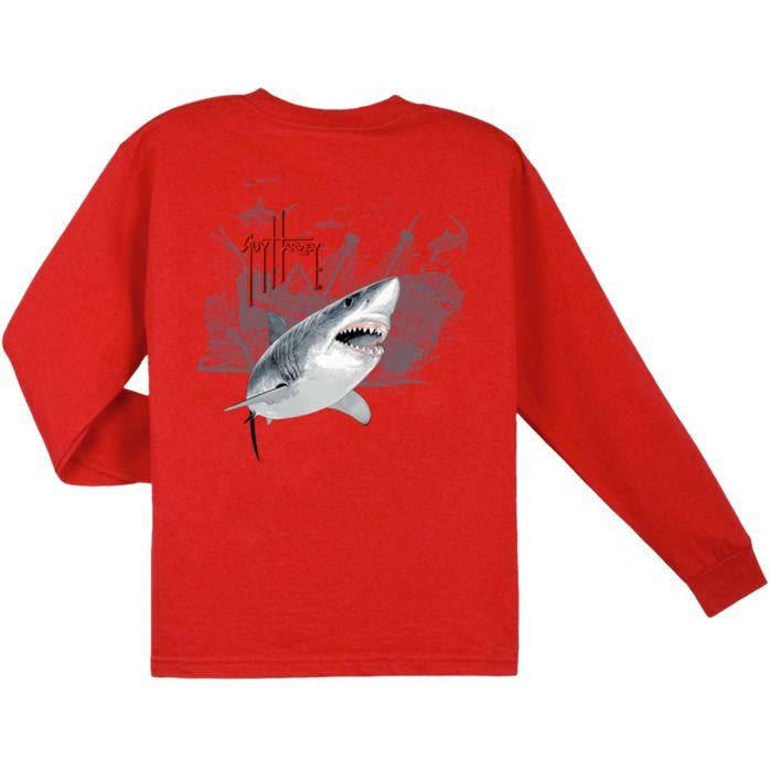 Guy Harvey Pirate Shark 3 Youth Long Sleeve Shirt