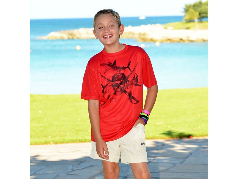 Guy Harvey Pirate Shark Tonal Youth T-Shirt