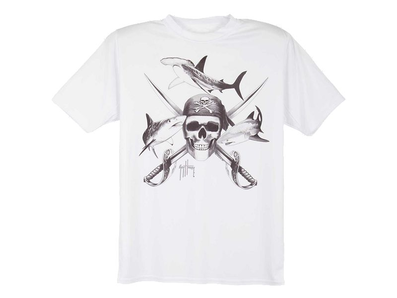 Guy Harvey Pirate Shark Tonal Youth T-Shirt