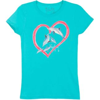 Guy Harvey Dolphin Love Girls T-Shirt