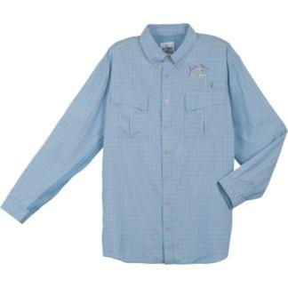 Guy Harvey Plaid Tech Fishing Long Sleeve Shirt