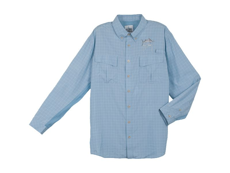 Guy Harvey Plaid Tech Fishing Shirt