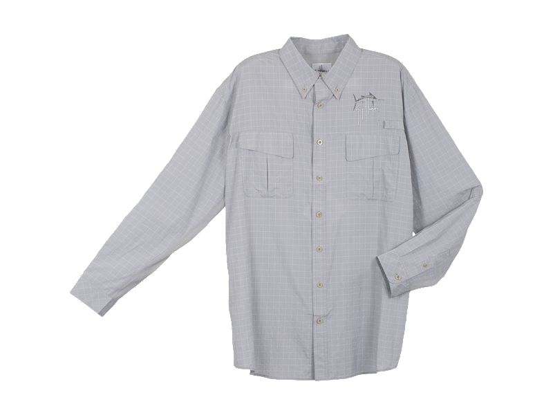 Guy Harvey Plaid Tech Fishing Long Sleeve Shirt