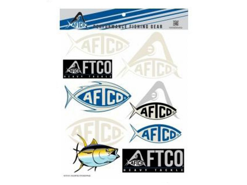 AFTCO Fishing Stickers & Decals Sheet