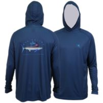 Guy Harvey Clipper Hood Pro UVX Performance Long Sleeve Shirt