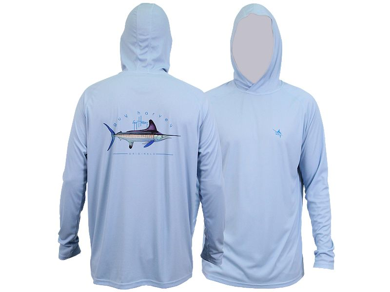 Guy Harvey Clipper Hood Pro UVX Performance Long Sleeve Shirt