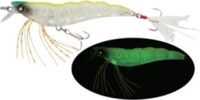 Yo-Zuri Crystal 3D Shrimp Slow Sinking - Luminescent Aurora Chartreuse