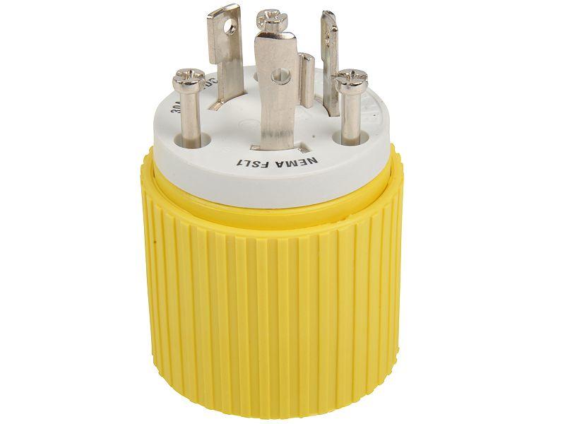 Hubbell Yellow Locking Male Plug