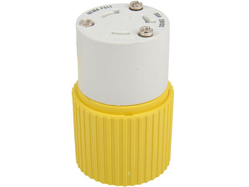Hubbell Yellow Locking Female Plug