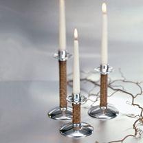 Mariposa Rattan Candlesticks