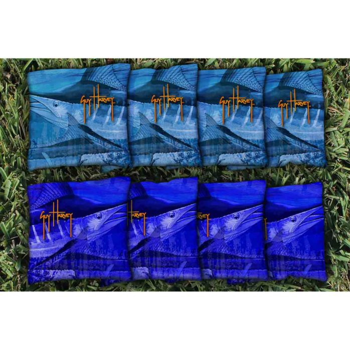Guy Harvey Marlin Camo Cornhole Bags