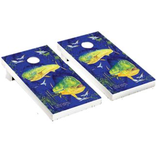 Guy Harvey Bulls Chase Cornhole Board