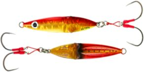 Savage Gear Squish Deep Drop Erratic Fall Jigs - Gold/Red
