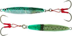 Savage Gear Squish Slim Body Erratic Fall Jigs - Green Mackerel