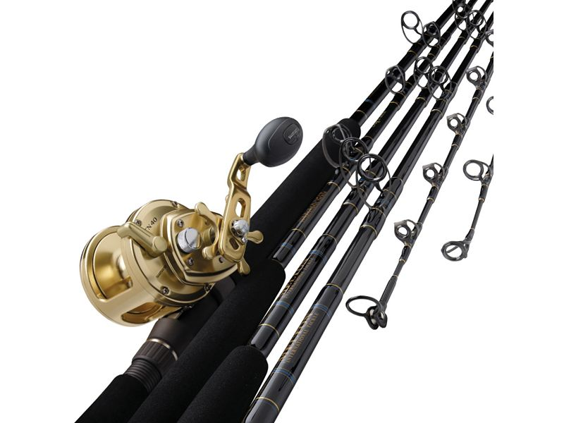 Melton Tackle Graphite/Glass Composite Marlin Live Bait Casting Rods