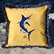 Guy Harvey Fringe Pillow